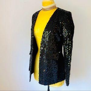 NWOT Fancy Black Sequin Blazer